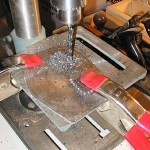 More drilling - use oil as a lubricant for the bit to reduce friction - less heat