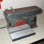 Benchtop grinder / sander makes the work easy