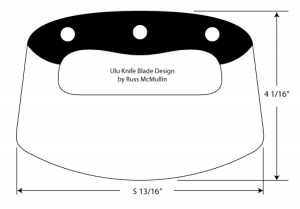 ulu knife blade design by Russ McMullin