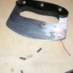 After the screws are tight, cut off them short with a hacksaw.