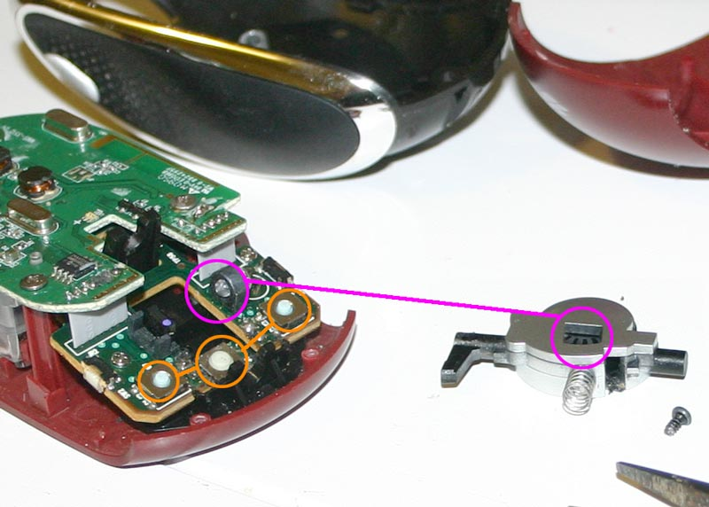 Repair defective wheel on Microsoft Mobile Mouse 6000